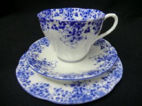 Seconds - Royal Albert 'DAINTY BLUE'  tea CUP & SAUCER ONLY